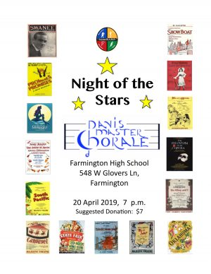 """Our 2019 Spring Concert, """"Night of the Stars"""", is set for Sat"""